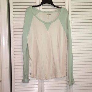 Mint Green and White Lightweight Sweater
